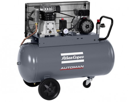 Compressore a Pistoni 2,2 kw 6,6 l/s con serbatoio 90 litri Automan AC 31