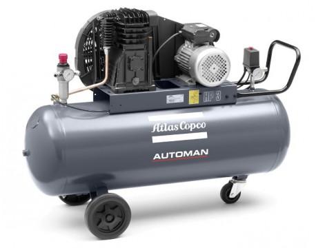 Compressore a Pistoni 3 kw 8,6 l/s con serbatoio 200 litri Automan AC 40