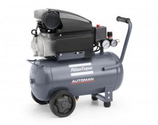Compressore a Pistoni 1,85 kw 4,5 l/s con serbatoio 50 litri Automan AF 25