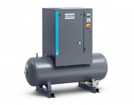 Compressore a vite 2,2 kw 4,9 l/s con serbatoio da 200 litri - DOL