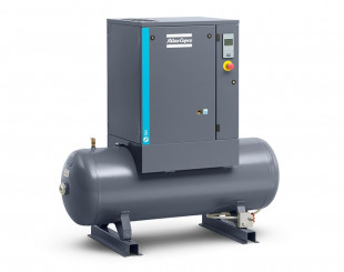 Compressore a vite 4 kw 8,6 l/s con serbatoio da 200 litri - Y/D