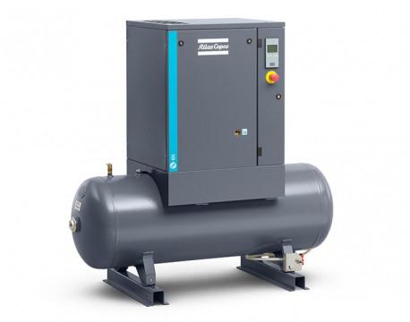 Compressore a vite 5,5 kw 13 l/s con serbatoio da 200 litri - Y/D