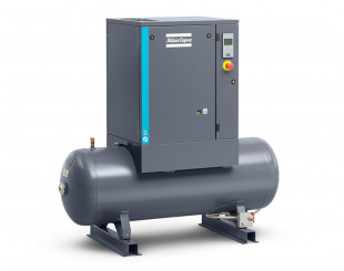 Compressore a vite 7,5 kw 16,4 l/s con serbatoio da 200 litri - Y/D